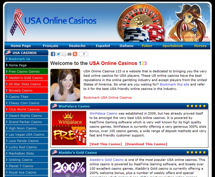 USA online casinos 123 reviews and lists the best online casinos for USA players. These are the safest, most popular and reputable online casinos for US players. Remember the name; USA Online Casinos 123. http://www.usaonlinecasinos123.com