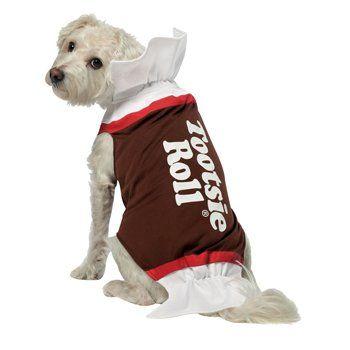 tootsie roll dog costume size medium large dog halloween