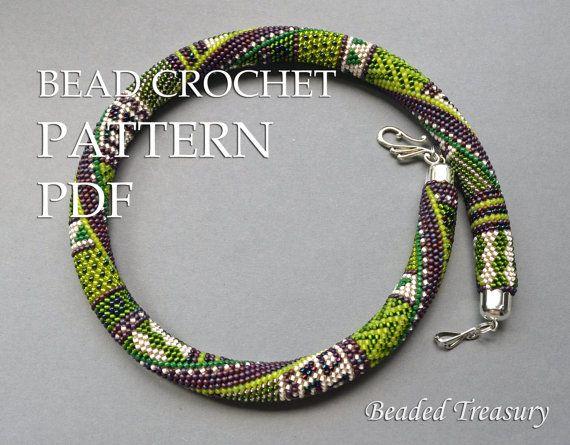 """Summer in Provence"" - bead crochet pattern / bead crochet necklace."