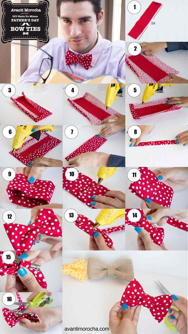 DIY Father's Day Gift Idea  - Bow Ties ( No - Sew). Watch the video tutorial on my blog :)