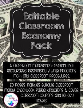 50 pages of editable materials!  Everything you need to start a classroom economy!