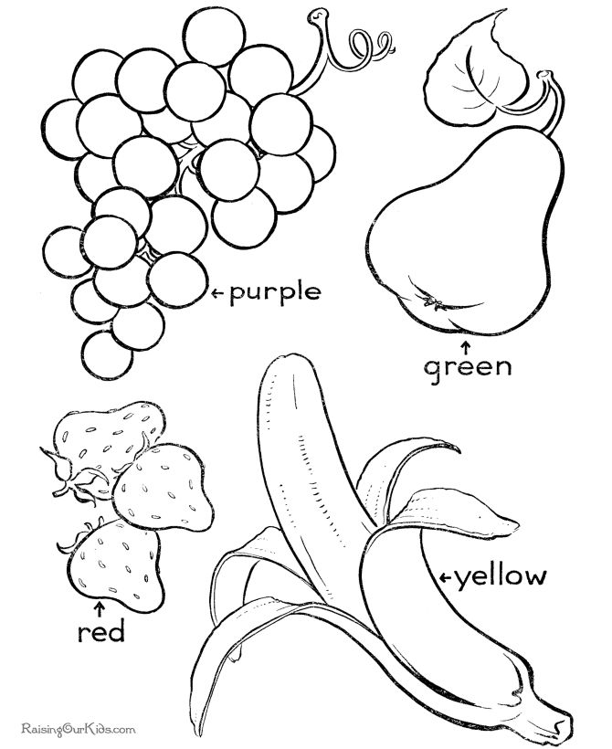 Colouring Pages Educational Free : Fruit coloring page to print and color educational