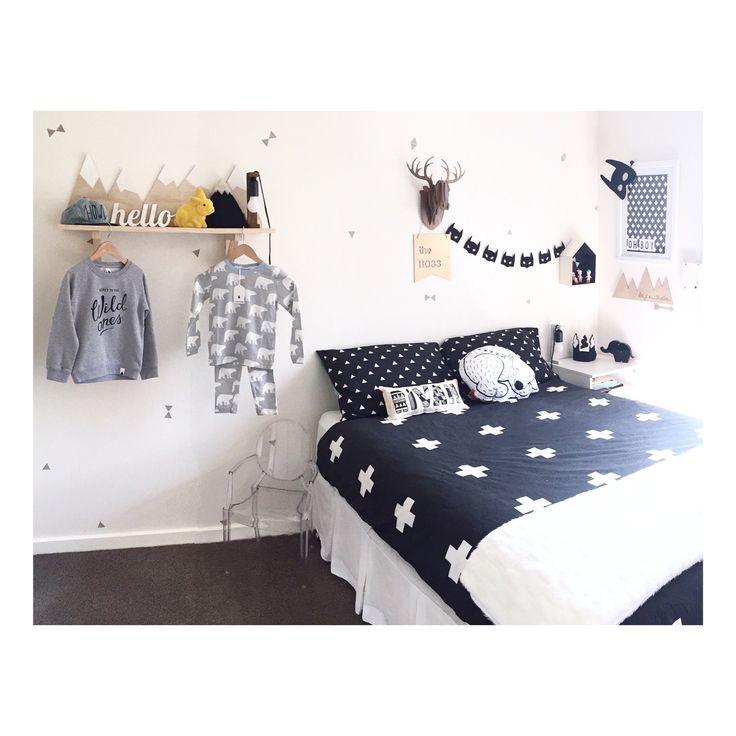 monochrome boys room | styled by #LittleSandCo