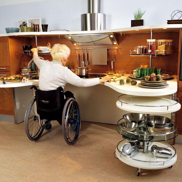 cuisine adaptée fauteuil roulant