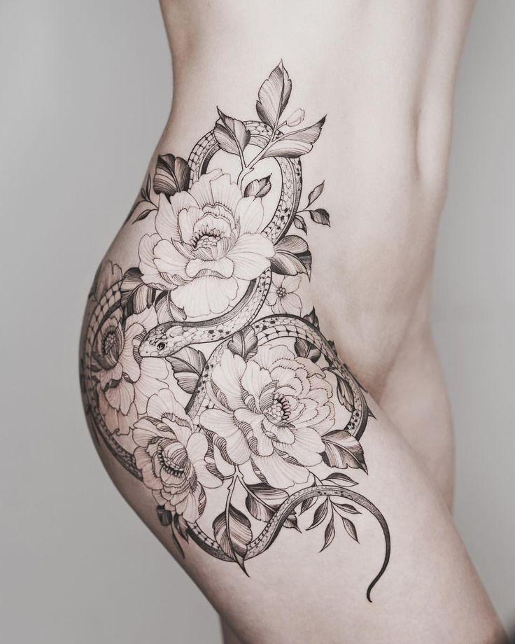 Snake Flower Tattoo: Pin By Paloma On Tatuagens