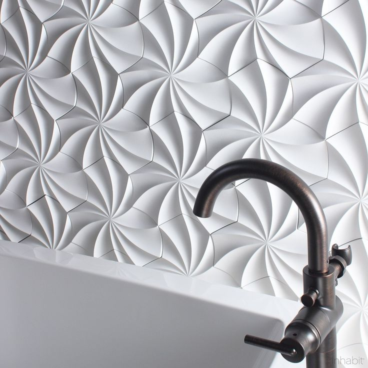 Kaleidoscope Cast Architectural Concrete Tile - Primer White