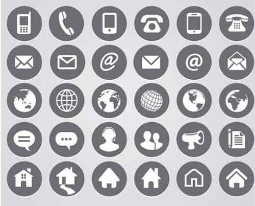 38 best saas images on pinterest communication graph design and hera re 23 sets of free contact icons in vector and psd formats that you can use for your websites contact page and business cards reheart Choice Image