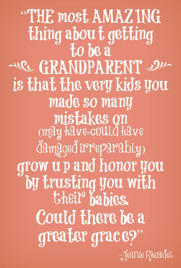 Being Grandma Sayings | being a grandparent jeanie rhoades quote