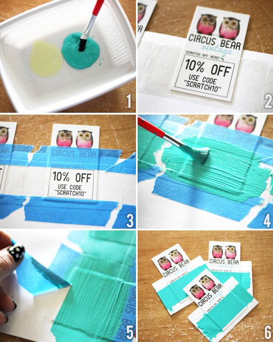 Homemade 'scratch cards' tutorial