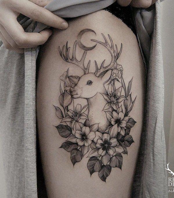 26 Deer Tattoos: Best 25+ Deer Tattoo Girls Ideas On Pinterest