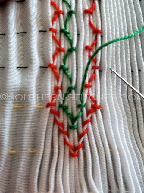 SewNso's Sewing Journal: vertical smocking / creating diamonds