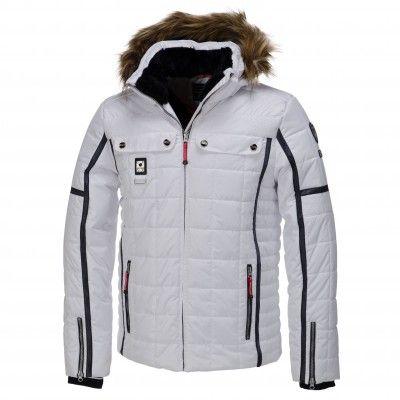 Icepeak, Oras, Gewatteerde Ski Jas, Heren, wit (Ski kleding heren)