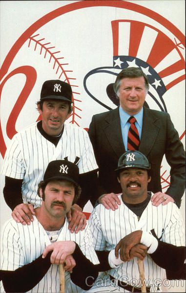 1970's New York Yankees:  Billy Martin, George Steinbrenner, Thurman Munson & Reggie Jackson