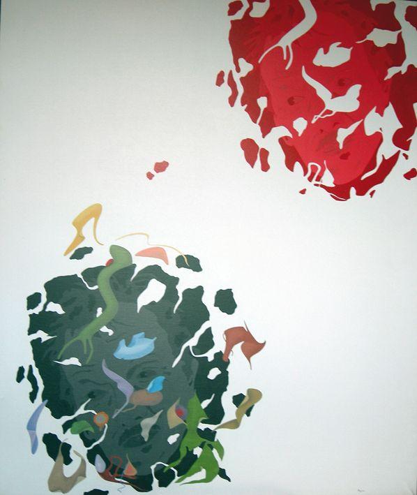 """""""Autoritratto"""" acrilici su tela, cm 120x100, 1989"""