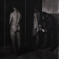 Mircea Suciu  FACTORY  176 x 150cm, charcoal paper, 2011 (private collection).