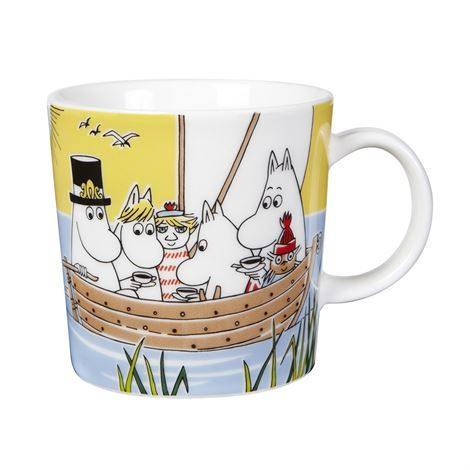 Sail with Niblings and Too-Ticky is the seasonal Moomin mug for summer 2014 from Arabia. Limited edition, released in April 2014.
