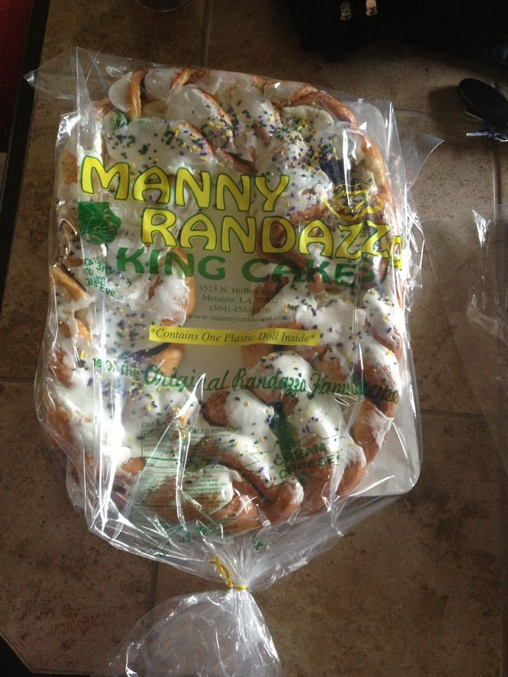 Manny Randazzo King Cake!!! Truly the best King Cake Ever!!!  (A New Orleans native told me this was true... and sent me one to prove it.  YUM!)  Thank you, Sam!!