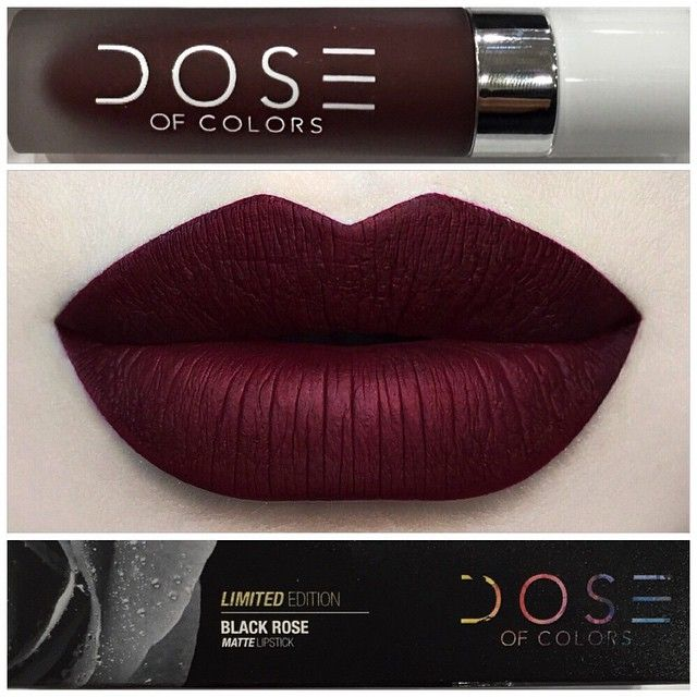 @doseofcolors •BLACK ROSE•  Limited Edition liquid matte lipstick