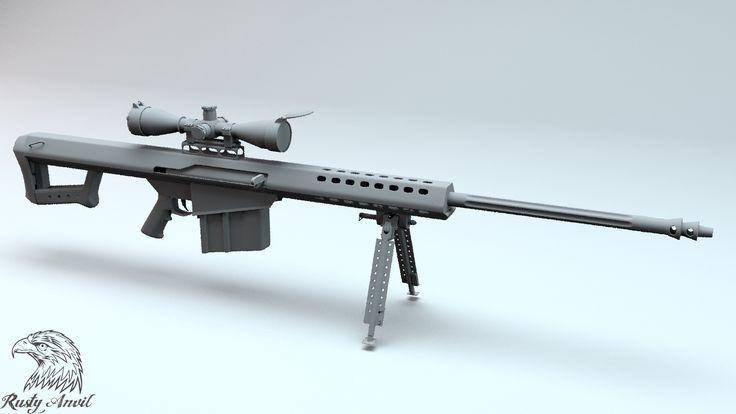 3D Sasr Barrett M82 Model - 3D Model