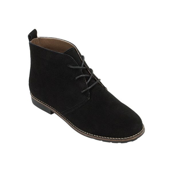 Women's White Mountain Albany Chukka Boot - Black Suede Ankle Boots ($68) ❤ liked on Polyvore featuring shoes, boots, black, lace-up ankle boots, ankle boots, black chukka boots, short lace up boots and chukka boots