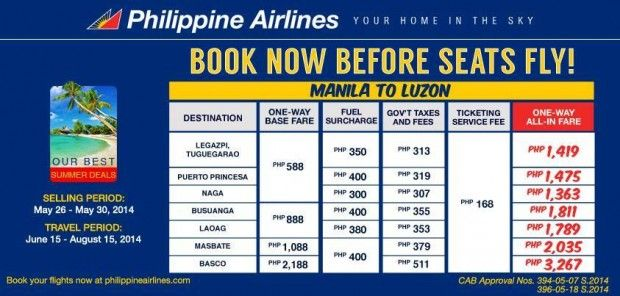 Philippine Airlines Busuanga Promo for as Low as P1811 All-In