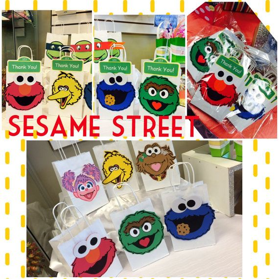 Sesame Street Loot Bag 10 pkg by DecoraEvents on Etsy