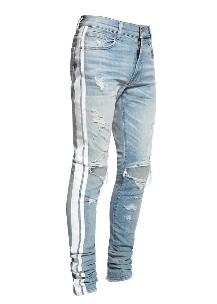 c3534877 Amiri Track Jean Light Indigo/White | My Clothes in 2019 | Jogger ...