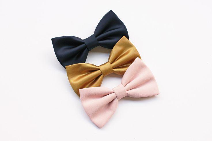 Papillon color oro,blu notte,rosa quarzo, farfallino per uomo, accessori matrimoni in oro, matrimonio primavera estate 2017 cerimonia sposi di ScoccaPapillon su Etsy