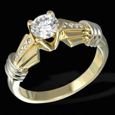 Помолвочное кольцо с бриллиантами ED R 12272 YW