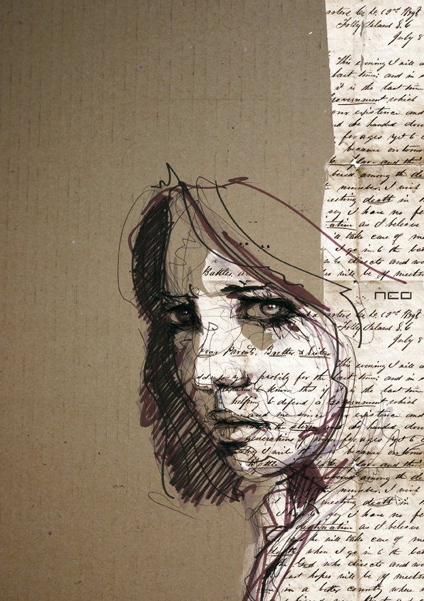 eve by neo innov - Amazing Portrait Illustrations by Florian Nicolle <3 !