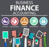 Business Accounting Financial Analysis Management — Stock Photo
