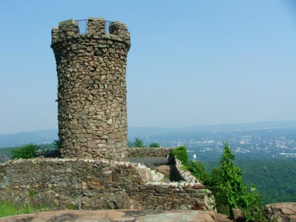 Rook On Top Of A Mountain In Meriden Connecticut => Castle Craig, Hubbard Park.