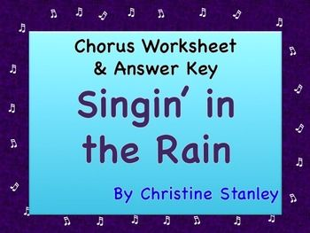 singin 39 in the rain movie worksheet teacher answer key activities student and the o 39 jays. Black Bedroom Furniture Sets. Home Design Ideas