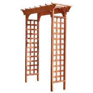 Fairchild 83 in. x 61 in. Wood Garden Arbor-MFS49PG at The Home Depot