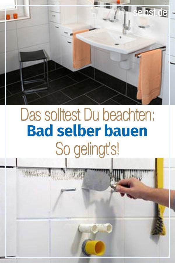 Bad Selber Bauen Mit Bildern Badezimmer Bauen Bad Renovieren