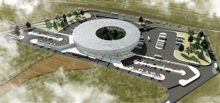 Usak Intercity Bus Terminal  Nice render. good parking planning.