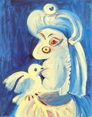 femme et l'oiseau 1971