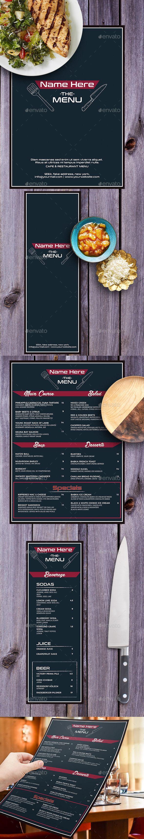 #food #menu - Food Menus Print Templates