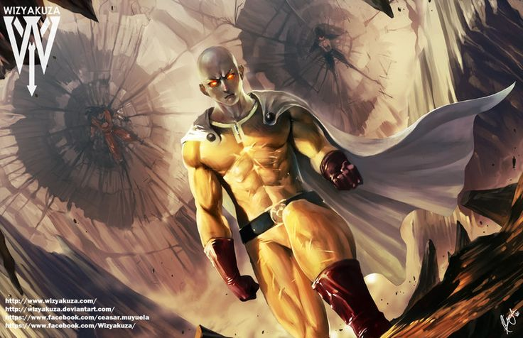 Saitama Vs Dbz by wizyakuza.deviantart.com on @DeviantArt