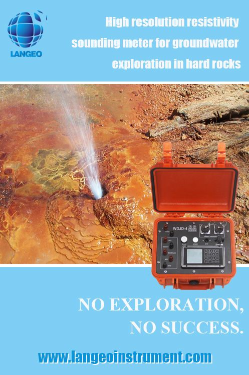 high resolution resistivity sounding meter for groundwater exploration in hard rocks