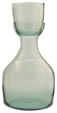 Recycled Glass And Carafe Set, Small - eclectic - cups and glassware - Be Home