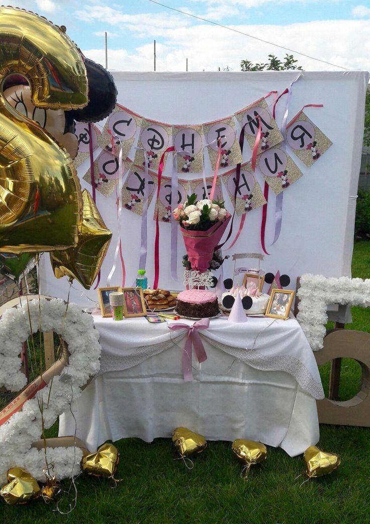 Фотоотчет со дня рождения в стиле Минни Маус «Розовый и Глиттер» - Оформление дня рождения (фото)  - Украшаем квартиру к празднику - Каталог статей - Устроим Праздник! Бесплатные шаблоны на день рождения