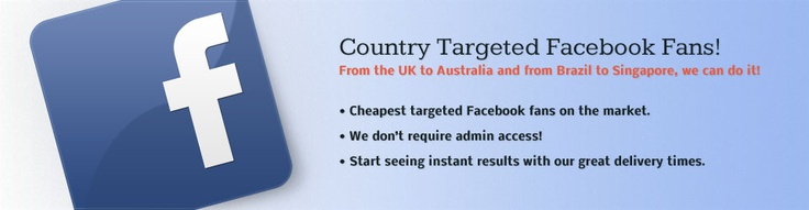Buy Facebook Likes, Twitter Followers, YouTube Views