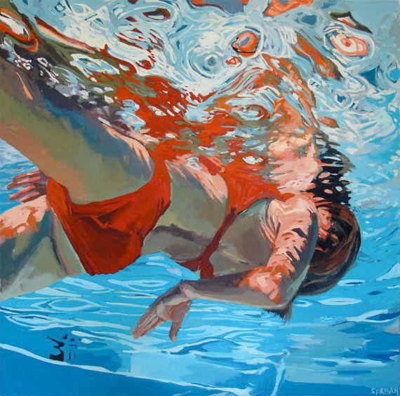 I really love Samantha French's views from under water. www.samanthafrench.com #art #artist #underwater