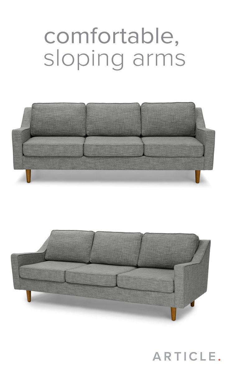 Comfortable Sofas For Family Room Part - 39: Slope Pebble Gray Sofa. Gray SofaFamily RoomApartmentsSofas