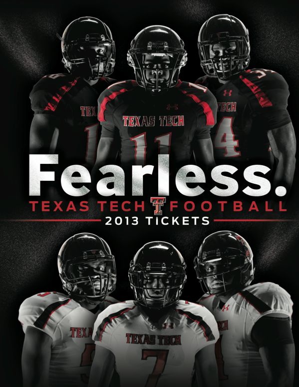 Texas Tech 2013 Football Ticket Book Cover designed by Jared Stanley. #TTAA #SupportTradition