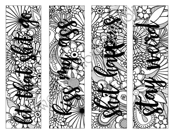 Free Coloring Bookmarks For Adults 45 Best Boekenleggers Images On Pinterest