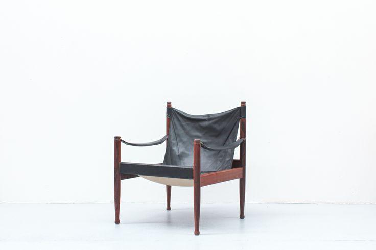 Erik Wortz designed Rosewood safari chair. Made by Eilersen Furniture, Denmark. $1350.00 In store now at Danish Red.