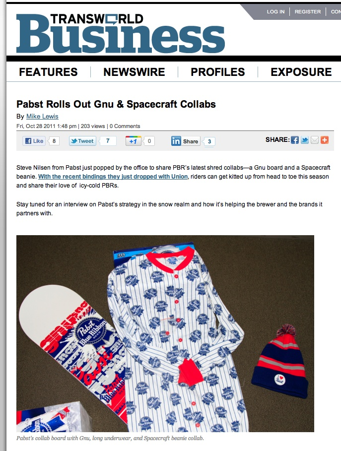 PBR PJ'S and snowboard