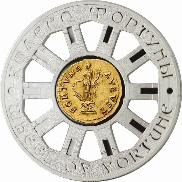 Niue 2014 1$ WHEEL of FORTUNE Proof Silver Coin 24K Gold